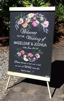 Wedding chalkboards blackboards artist hand painted signs