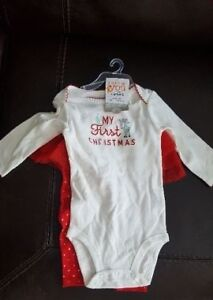 Carters My 1st Christmas Girls Baby set 2pcs 9Mo BRAND NEW