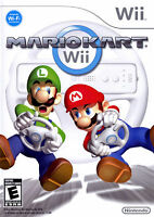 Mario Kart Wii + 2 wheels and other games