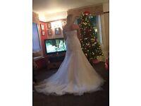 size 12/14 sasha perez wedding dress