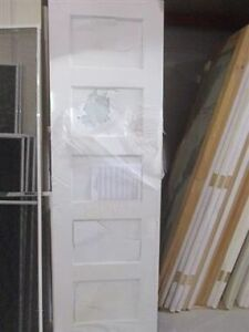 "24"" X 80"" Solid Wood French Doors with Glass Inserts"