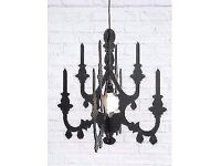 Urban Outfitters 3D chandelier in black, lampshade / light fitting