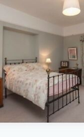 Traditional ironwork double bed