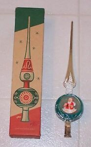 Vintage Christmas Tree Topper and Bubble Lights