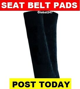 2 BLACK  Car Seat Belt Pads, seatbelt covers, new, car or van accessories