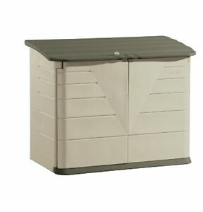 NEW-32-cu-ft-Rubbermaid-Large-Horizontal-Shed-Storage-Lockable-Doors