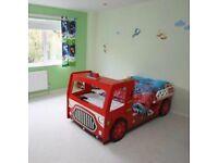 Fire engine bed frame.