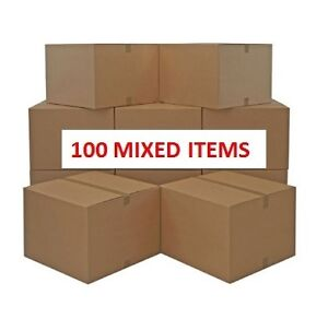 BULK WHOLESALE JOBLOT 100 X MIXED ITEMS CLEARANCE BOXES SHOPS MARKETS CARBOOTS