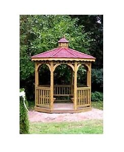 Octagon 8 ft Screened Gazebo