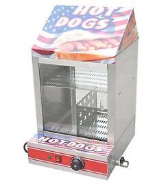 Electric Hot Dog Steamer Machine & Bun Warmer Display Showcase