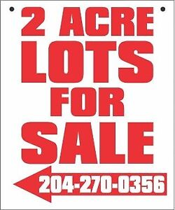 2 Acre Lots for Sale