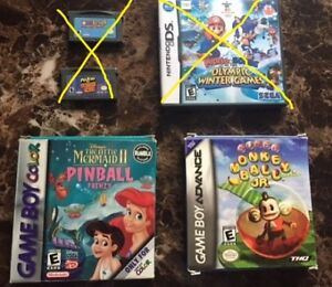 selling gba and gbc games