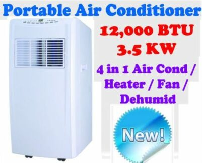 REVERSE CYCLE 12,000 BTU 3.5KW  4-in-1 PORTABLE AIR CONDITIONER