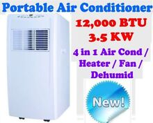 REVERSE CYCLE 12,000 BTU 3.5KW  4-in-1 PORTABLE AIR CONDITIONER Caulfield Glen Eira Area Preview