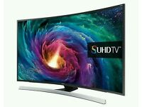 "Samsung 55"" SUHD Super 4K JS8500 8 Series Curved Smart Wi-Fi 3D tv comes with media box and"