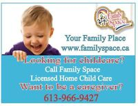 Licensed Home Childcare Available
