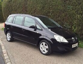 Vauxhall Zafira '58 1.6 16v Exclusive 5dr low mileage