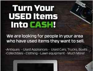 Turn your used Items into CASH!