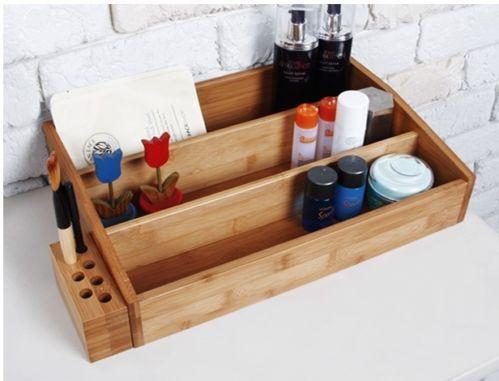 wooden beauty organizer ebay. Black Bedroom Furniture Sets. Home Design Ideas