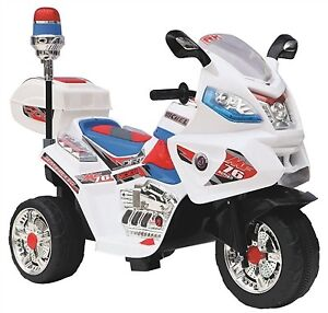 Brand New Child Ride On Three Wheel Motorcycle w Blinking Siren