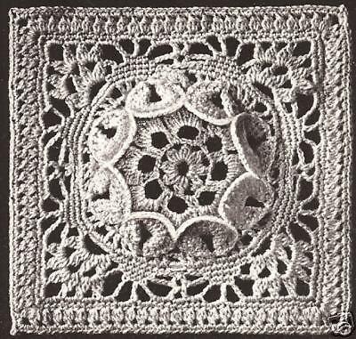 Medallion-block (Vintage Crochet MOTIF MEDALLION BLOCK Bedspread pattern)
