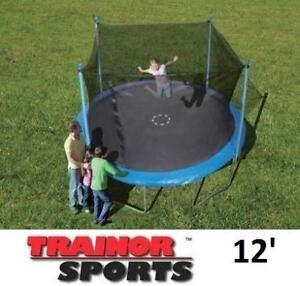 NEW* TRAINOR SPORTS TRAMPOLINE 12' - 127259148 - ENCLOSED TRAMPOLINES Enclosure Combo JUMPING BOUNCER JUMPS BOUNCERS