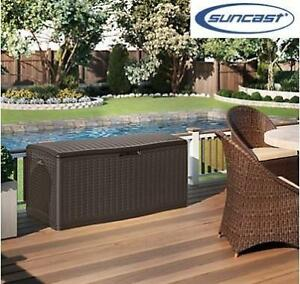 NEW* SUNCAST EXTRA LARGE DECK BOX BMDB12000 212100265 124 GAL.