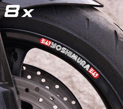 8 x Yoshimura small wheel decals rim stickers laminated set