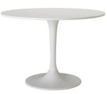 Beautiful Ikea White Round Dining table new and in perfect