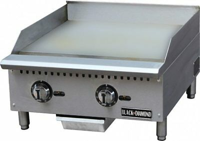 24 Commercial Gas Thermostatic Griddle Grill Nat Or Lp Gas