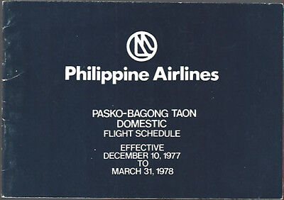 Philippine Airlines Domestic Timetable 12 10 77  7082