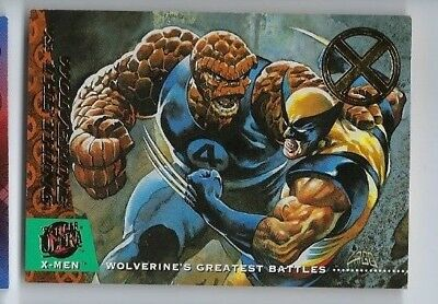 2018 Fleer Ultra X-men 1994 buyback 141 Wolverine vs. Thing 38/50
