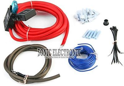 ROCKFORD FOSGATE 8 AWG Gauge Power Amplifier/Amp Installation Kit | RFK8 8 Gauge Power Kit