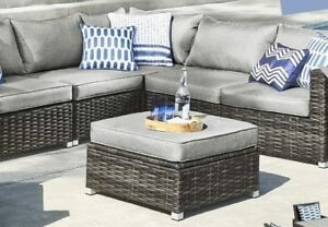 NEWPORT PATIO FURNITURE BY GLUCKSTEINHOME - ONLY THE OTTOMAN