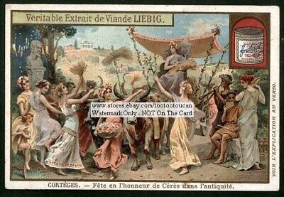 Greek For Goddess (Celebration For Greek Goddess Ceres c1903 Trade Ad)
