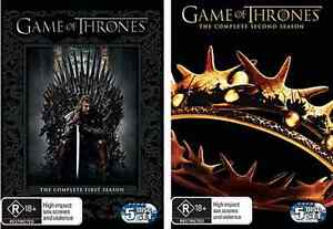 GAME OF THRONES : TV Series : SEASON 1 + 2 = NEW R4 DVD