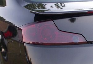 03-07 INFINITI G35 COUPE SMOKE TAIL LIGHT PRECUT TINT COVER SMOKED OVERLAYS