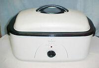 Rival 20 Qt 20 Lb Roaster Oven RO220 White W/Lid Window w/Buff