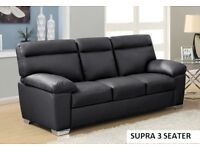 Black 3 seater supra big savings only 1 left plus brown 3plus2 recliner got to go call now