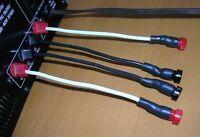 Power amp/speaker Banana Jack adapters, 14 AWG(OFC). New
