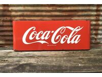 "Coca Cola Embossed Metal 14/"" Metal Round Button Sign Soda Fountain Coke Can New"