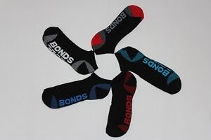 5xPAIRS brand new Bonds men's black or white sport ankle socks size 6-10,11-14