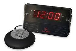 Sonic Alert Black Travel Shaking Vibrating Alarm Clock SB200