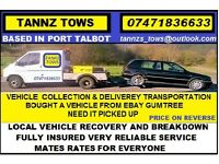 TANNZ TOWS VEHICLE COLLECTION, DELIVERY TRANSPORTATION 24/7 RECOVERY, BREAKDOWN