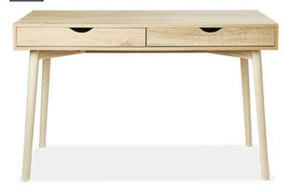 Study Desk Or Console With Drawers Scandi Style Phone