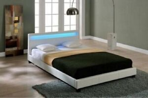 BNIB LED Moto BED FRAME DOUBLE QUEEN SIZE