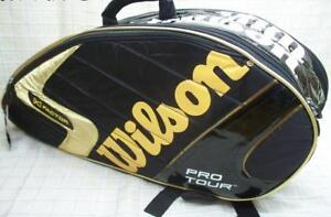 Wilson K Pro Tour Z6122 Black-Gold 6 Tennis Racket Bag