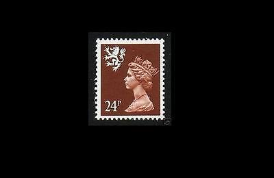 S70 24p Chestnut LITHO QUESTA SCOTLAND Regional UM GB Machin