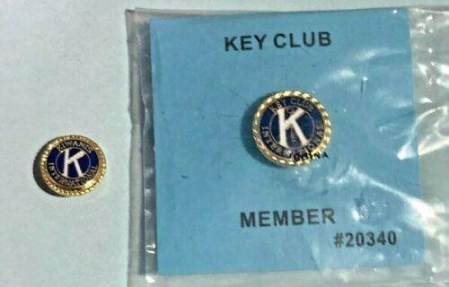 Kiwanis International ,2 Pins, Key Club Member + Small logo pin 👀
