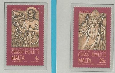 Malta aus 1990 ** postfrisch MiNr.841-842 + Kleinbogen: Papstbesuch auf Malta!!!